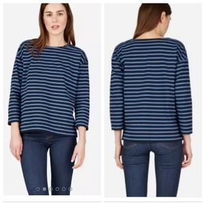 Everlane | The Breton Striped Tee with Zipper